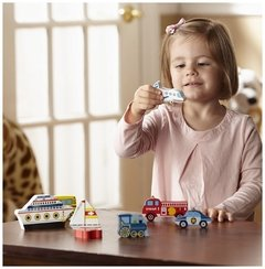 Melissa and Doug Vehicles Chunky. Puzzle Medios de transporte. - Kids Point