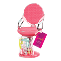 Our Generation Sitting Pretty Doll Salon Chair  Pink. Silla Peluqueria Rosa - Kids Point
