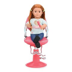 Our Generation Sitting Pretty Doll Salon Chair  Pink. Silla Peluqueria Rosa en internet