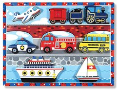 Melissa and Doug Vehicles Chunky. Puzzle Medios de transporte.