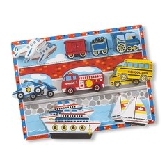 Melissa and Doug Vehicles Chunky. Puzzle Medios de transporte. - comprar online