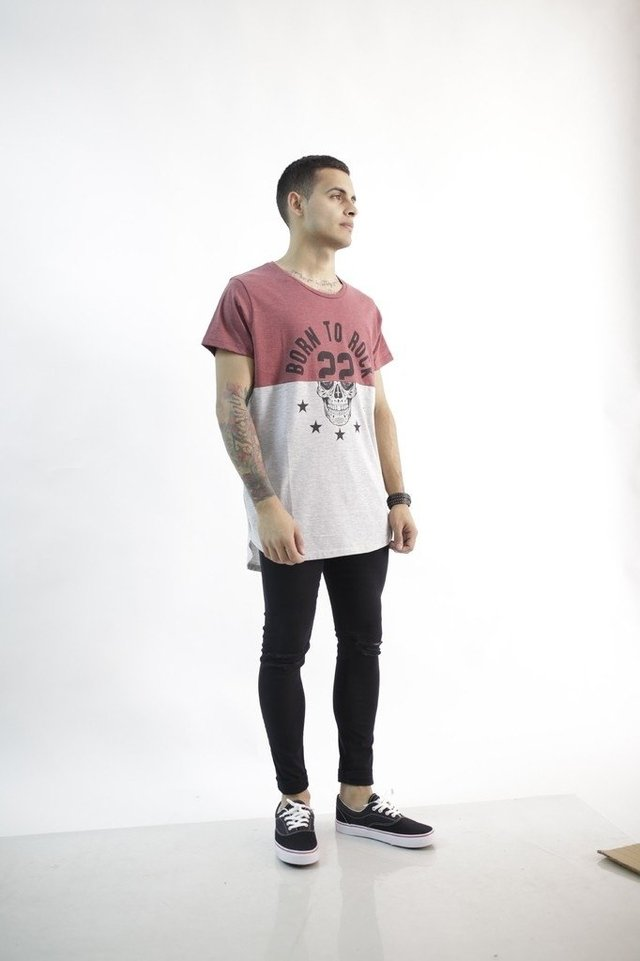 REMERA LONG FIT BORN TO ROCK - comprar online