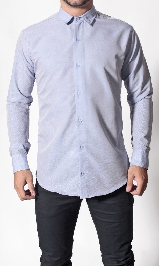 CAMISA GREY MINI V BORDO