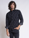 CAMISA HIGH SLIM BOMBIN NEGRO