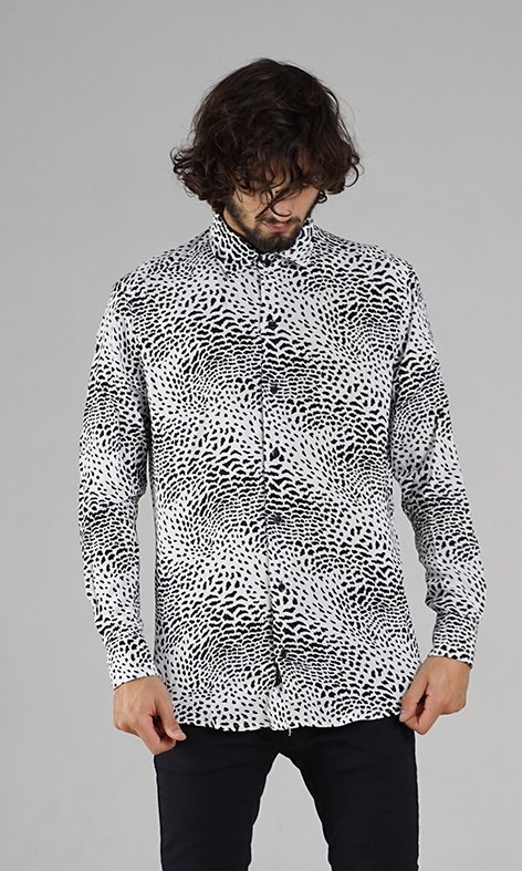 CAMISA MANGA LARGA POWER ANIMAL BLANCA