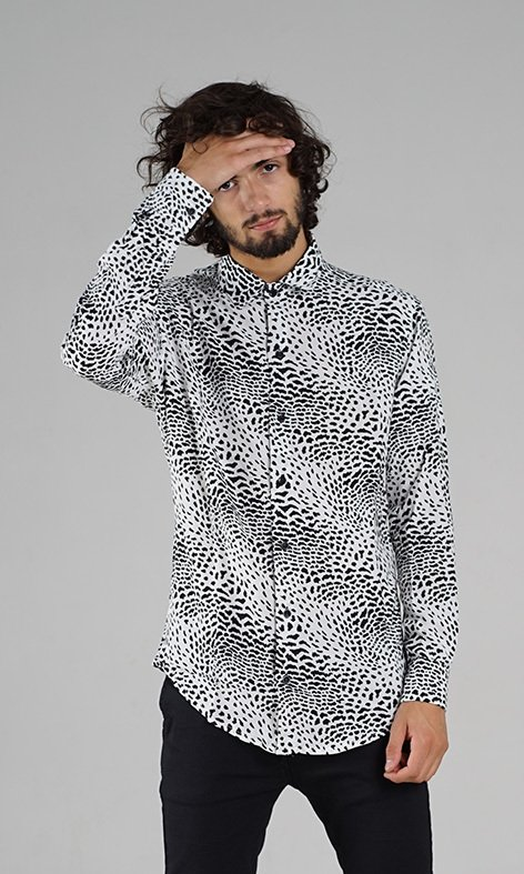 CAMISA MANGA LARGA POWER ANIMAL BLANCA - comprar online