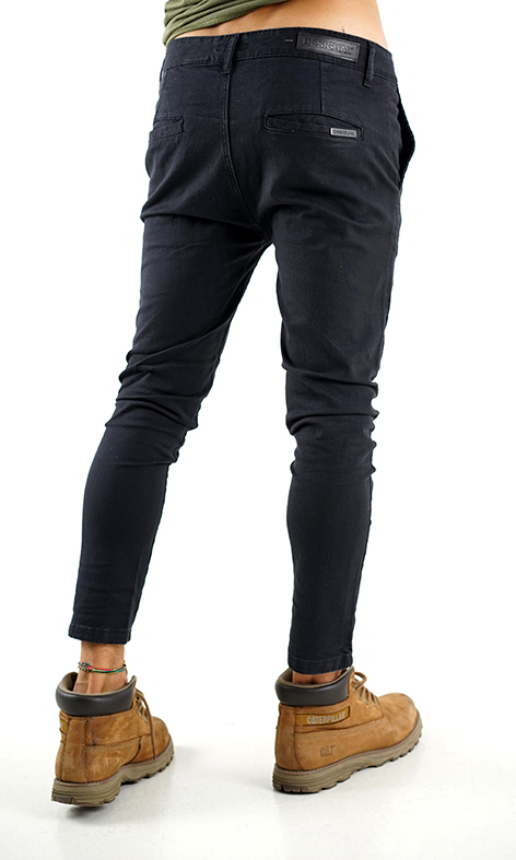 PANTALON CHINO HIGH SKINNY NEGRO