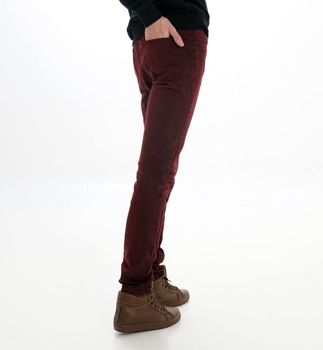PANTALON GABARDINA BOLSILLO PLAQUE BORDO en internet
