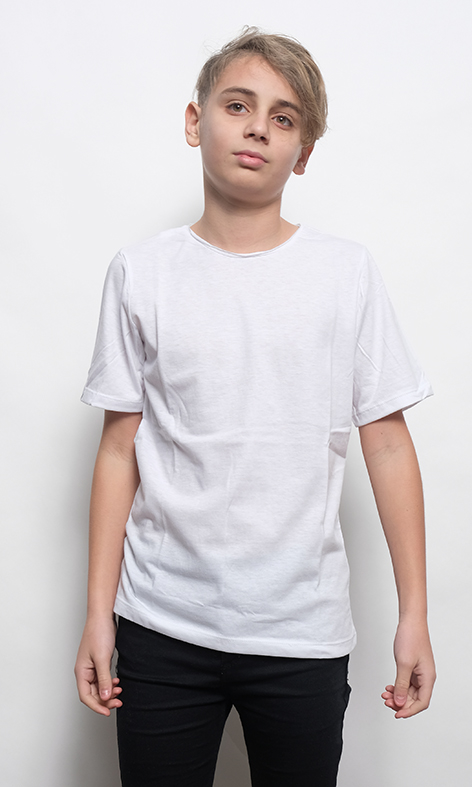 REMERA LISA KIDS BLANCO