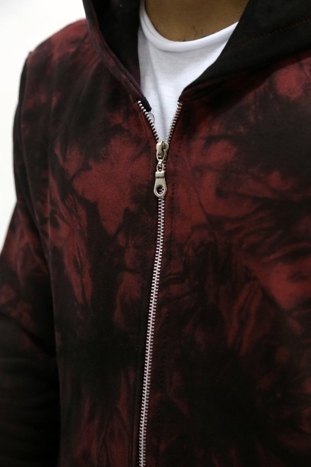 CAMPERA RUSTiCA IRREGULAR  BATIK BORDO