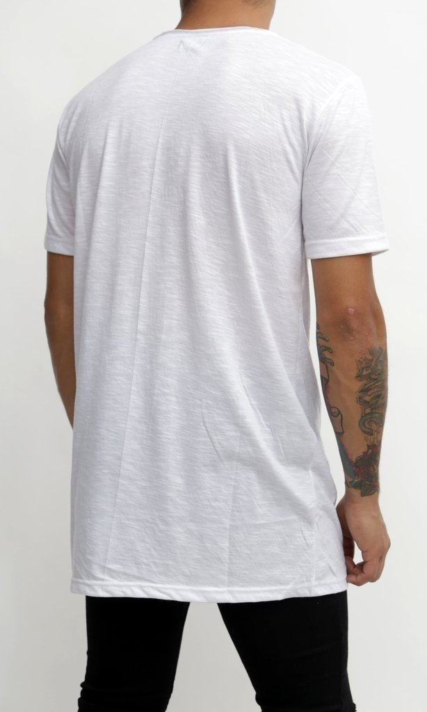REMERA LONG BASIC LISA BLANCA - comprar online