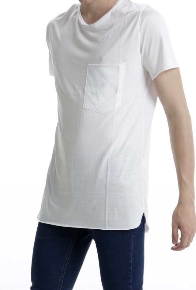REMERA VISCOSA C/BOLSILLO BLANCO