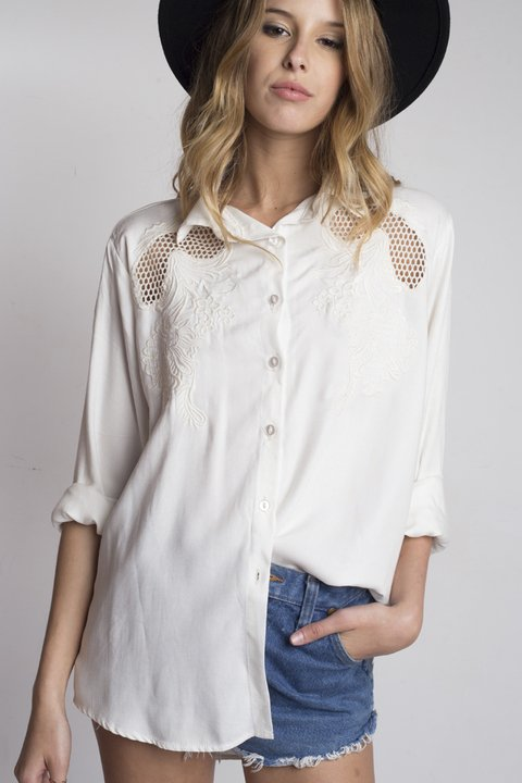 camisa Sweet Surrender cruda