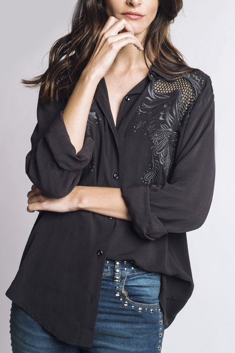 camisa Sweet Surrender negra