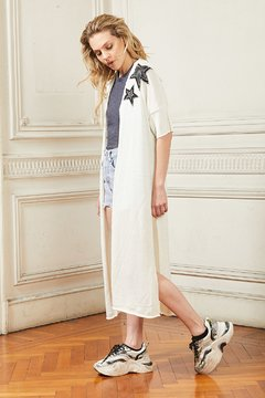 Saco tejido Twins Star. off white - CLUB M