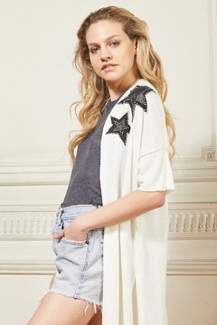 Saco tejido Twins Star. off white