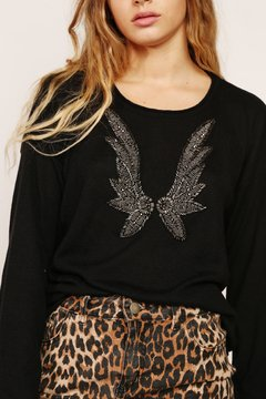 Sweater Wings Off White - comprar online