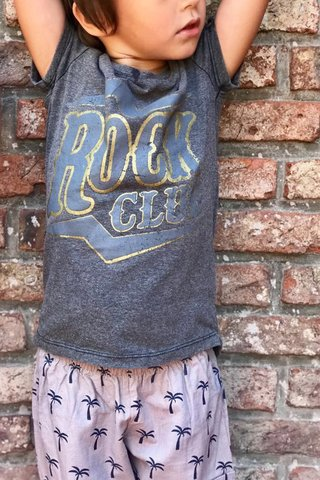 Remera ROCK CLUB gris