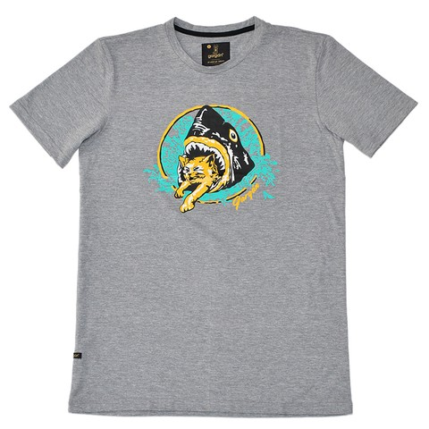 Remera Shark / Gris Melange Medio