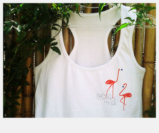 musculosa Flamingo en internet