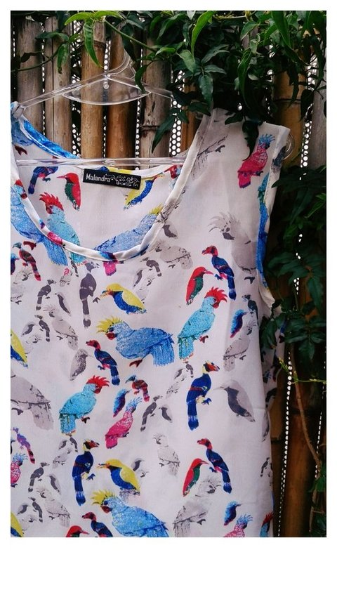musculosa Birds en internet