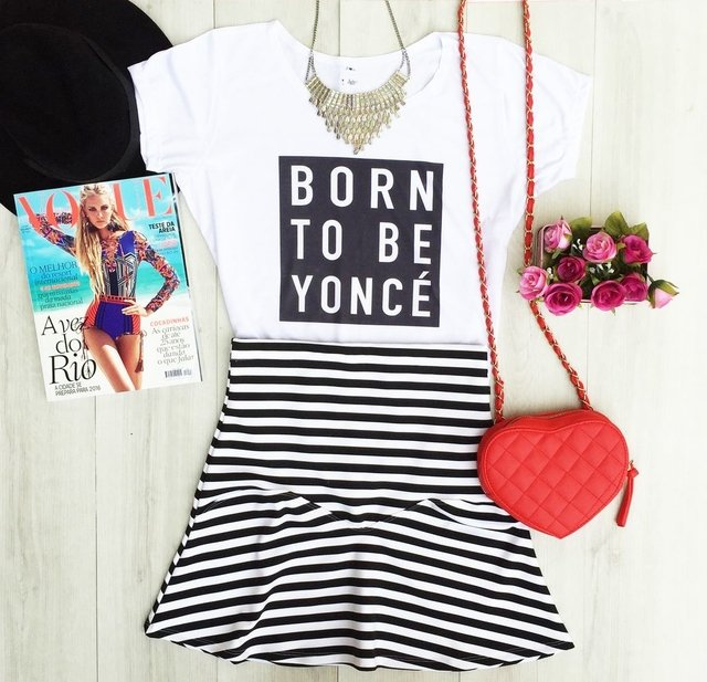 Camiseta Born to Beyoncé na internet