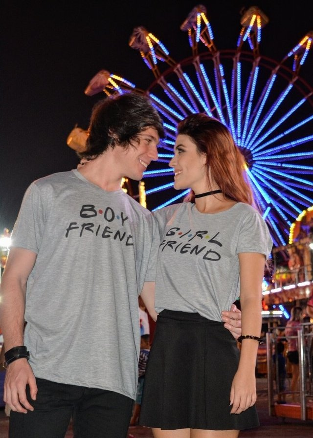 Camiseta Boy FRIEND e Girl FRIEND