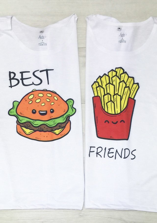 Camiseta Best Friends Batata Frita e Hamburguer
