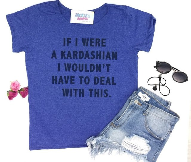 Camiseta If I Were a Kardashian na internet