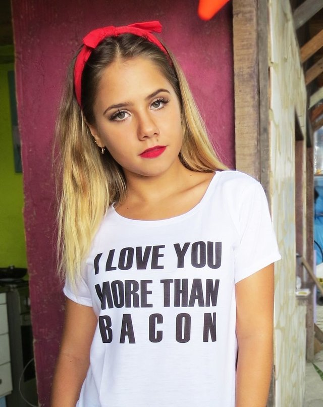 Camiseta I love you more than bacon - comprar online