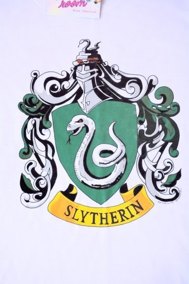 Camiseta Slytherin na internet