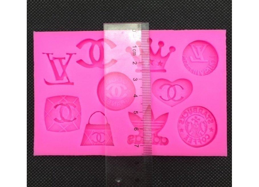 5ecce3e45 Molde de silicone Logomarcas - Adidas, Chanel, Louis Vuitton (bolsa ...
