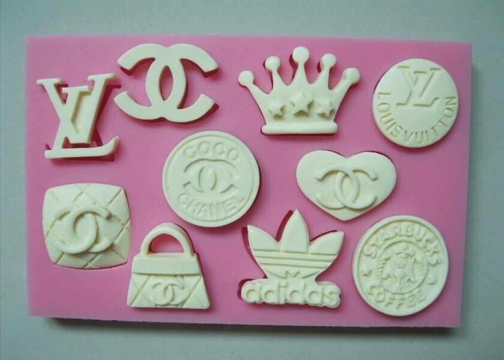 a89667c30 Molde de silicone Logomarcas - Adidas, Chanel, Louis Vuitton (bolsa, Coroa)