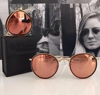 RAY-BAN ROUND ESPELHADO - ROSE on internet