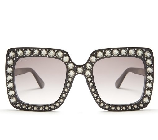 7f80441bed157 Óculos Gucci Oversized