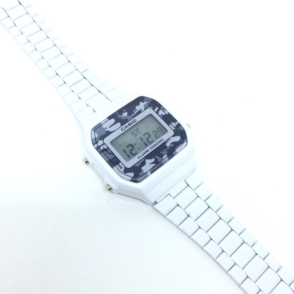 c48217b5b7e Relógio Casio Vintage Camuflado Branco