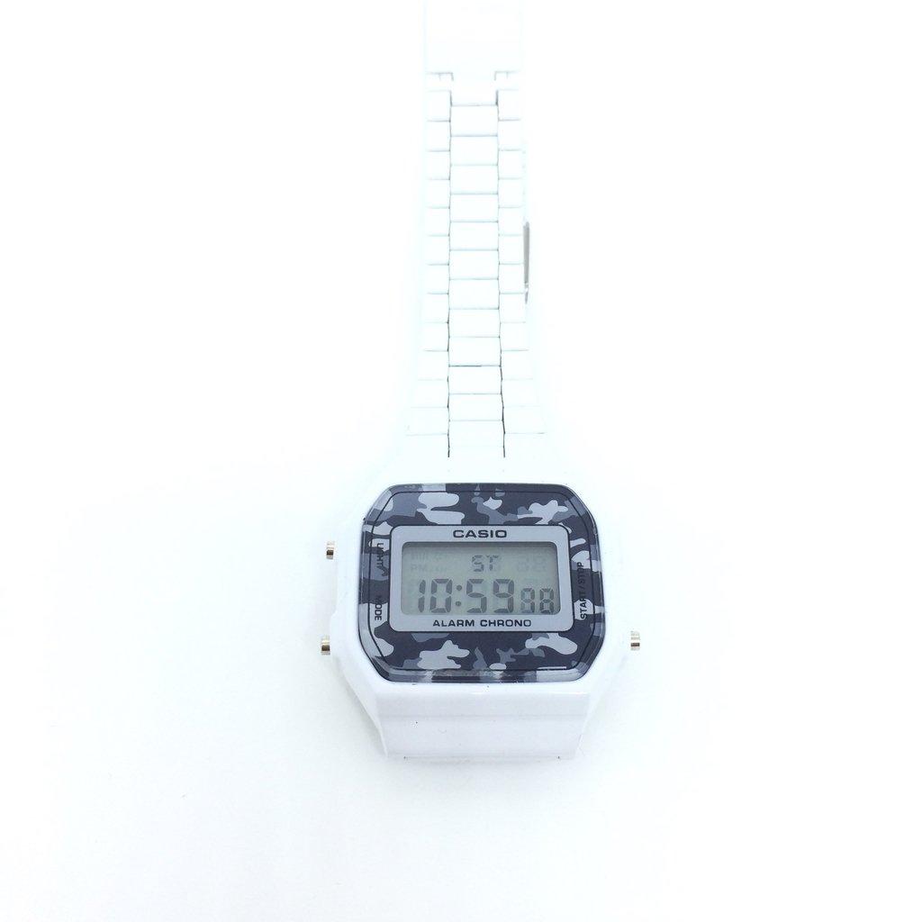 4ff95c6b5ff Relógio Casio Vintage Camuflado Branco