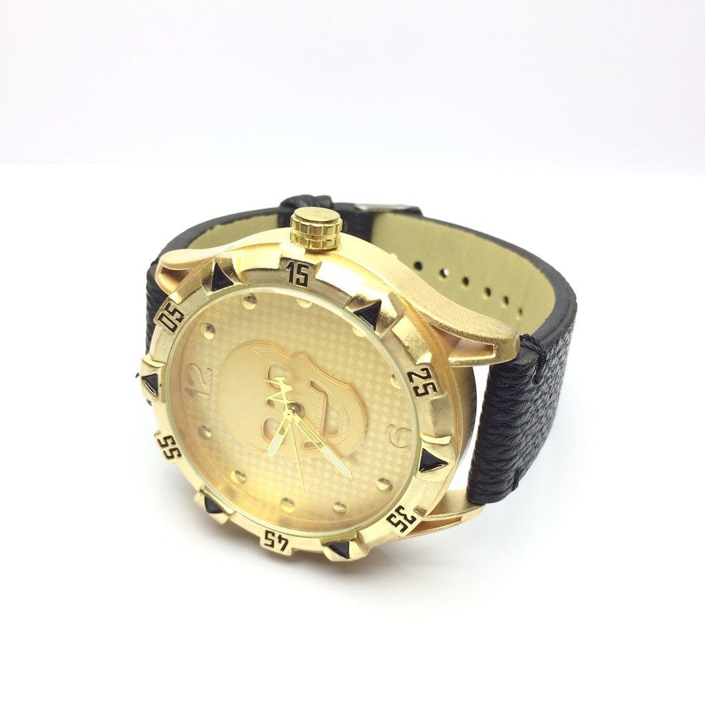 ea961c930d1 ... Relógio Caveira - Couro - LOVE MONEY - Óculos de Sol e Relógios ...