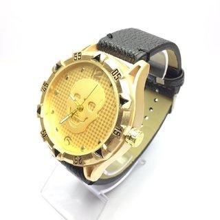 ff08411c35d ... Relógio Caveira - Couro ...