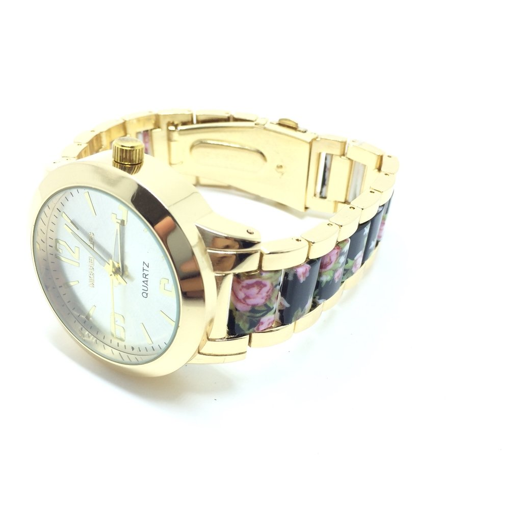 62676993ad2 ... Relógio Michael Kors MK Cristais Floral - Black - comprar online ...