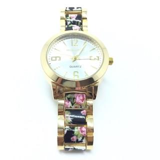c53c04451 ... Relógio Michael Kors MK Cristais Floral - Black ...
