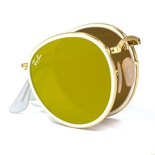 Image of Ray Ban Round Dourado borda branca