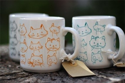 Taza Gatitos Color Aqua en internet