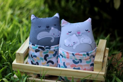 Familia Gatos Soft con Funda Desmontable