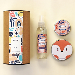 ULTIMO - GIFT Box Home Spray CONIGLIO + Jabón en lata + Velita + Caja con sticker a elección en internet