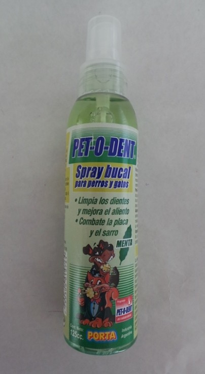 SPRAY BUCAL PET-O-DENT - comprar online