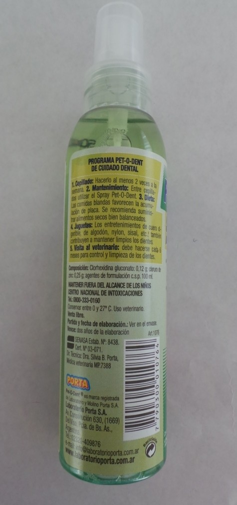 SPRAY BUCAL PET-O-DENT en internet
