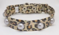 COLLAR CHAROL ANIMAL PRINT  CON PERLAS