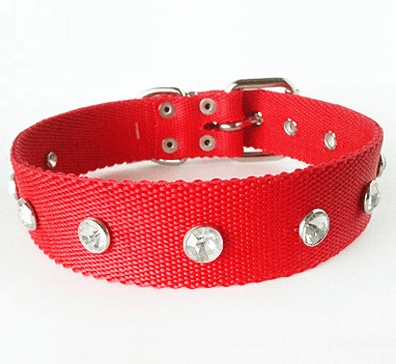 Collar nylon con tachas strass en internet