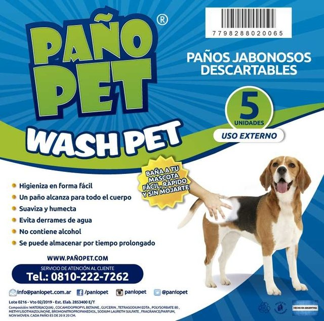 PAÑO PET WASH